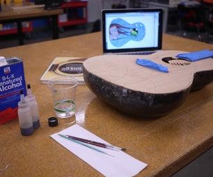 Laser Etched & Colored Soundboard - Made at Techshop