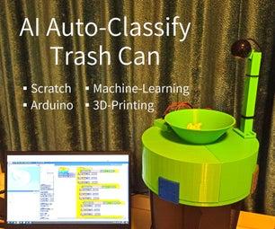 AI Auto-Classify Trash Can