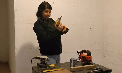 First Time Holding a Drill....