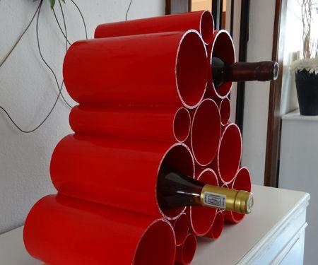 Easy PVC pipe wine rack