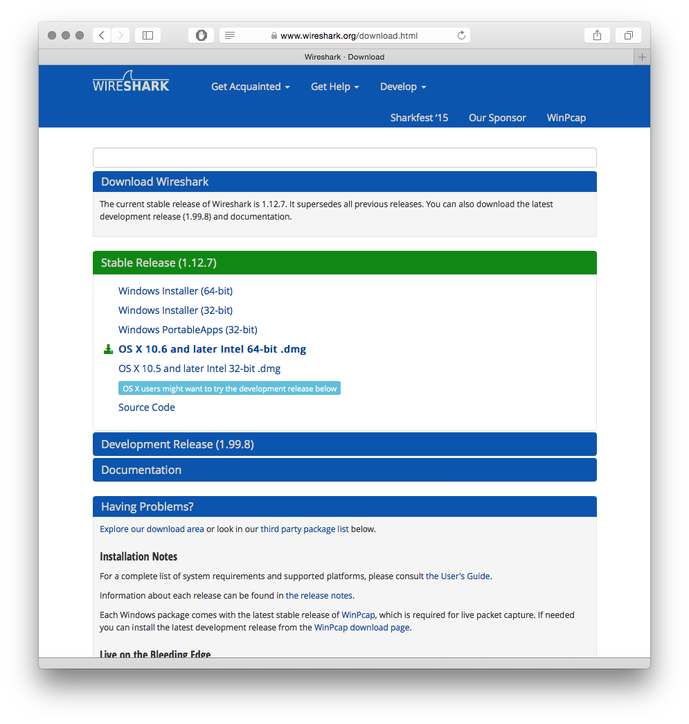 Install Wireshark