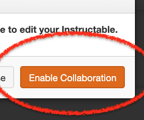 Add Collaborator on Instructables