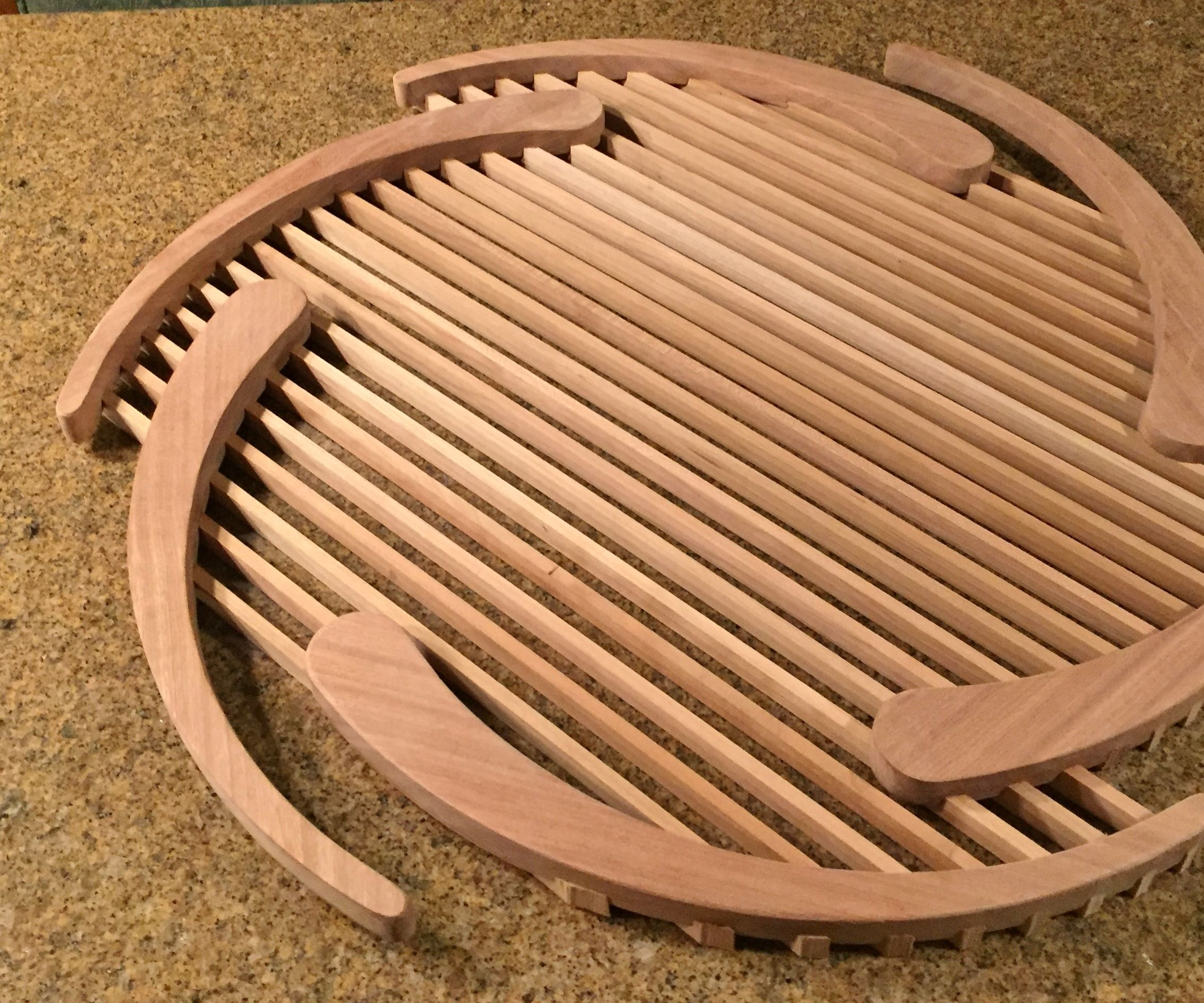 Hardwood Serving Trays/Cooling Racks/Objects D'Arte