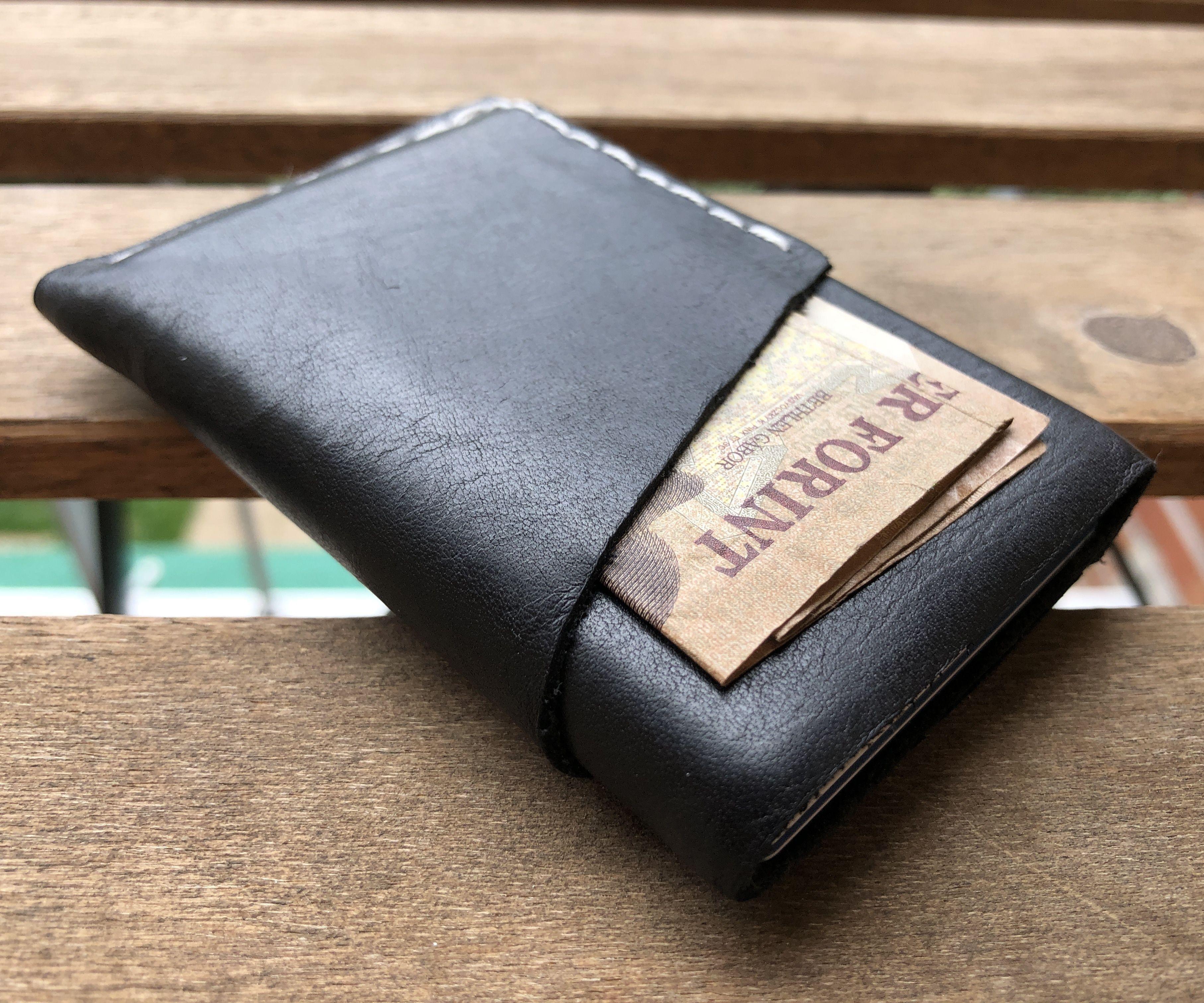 Slim EDC Leather Wallet - No Special Tools