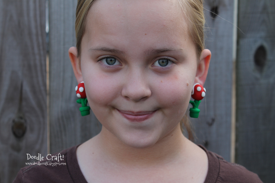 Mario Brothers Piranha Plant Earrings!