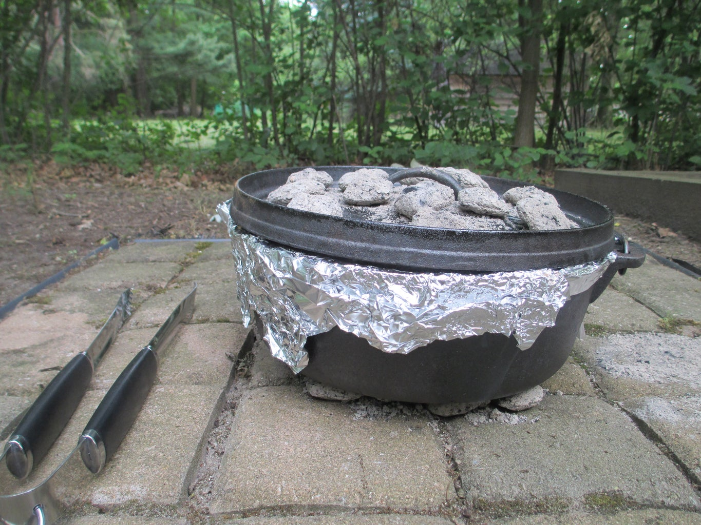 Add Dutch Oven to Fire