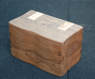 Finishing Walnut Box With Integral Hinge