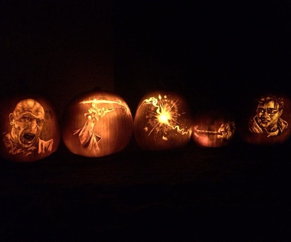 Harry Potter Vs Voldemort Pumpkin Carving