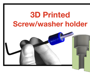 3D Printed Screw and Washer Holder