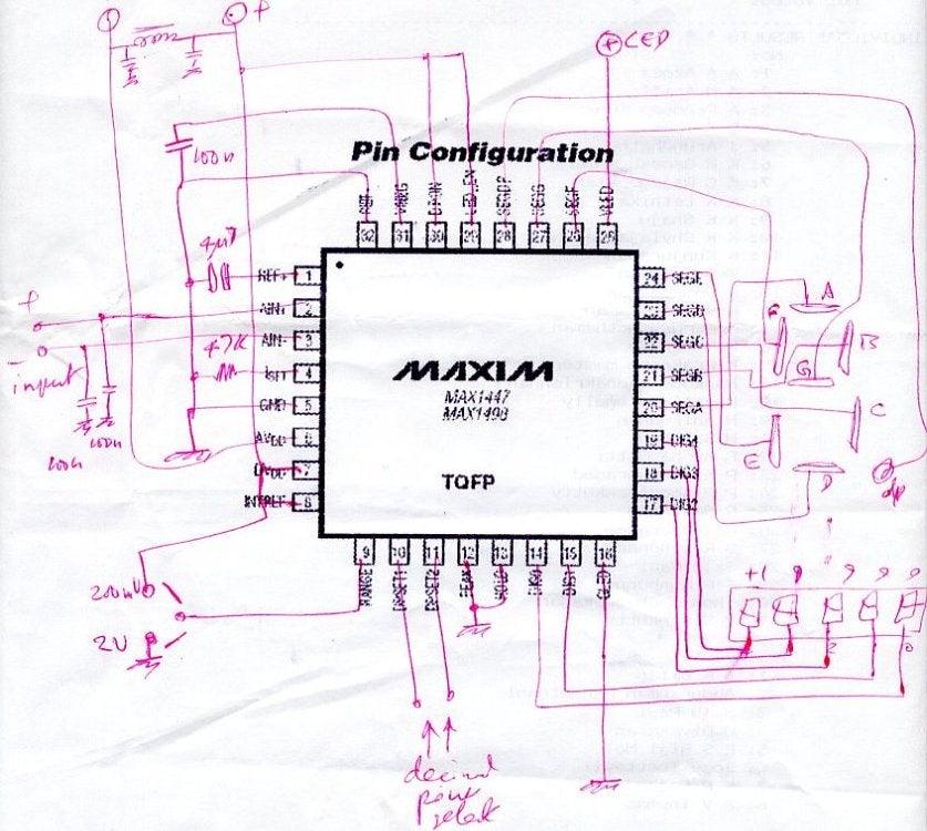 1 pcs U126D 4 digit counter measurment  circuit Zähler Voltmeter 4stellig