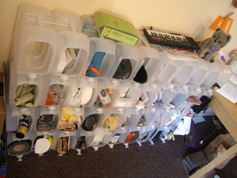 Modular Water Jug Storage Bins