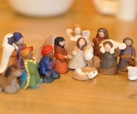 Easy Clay Nativity People