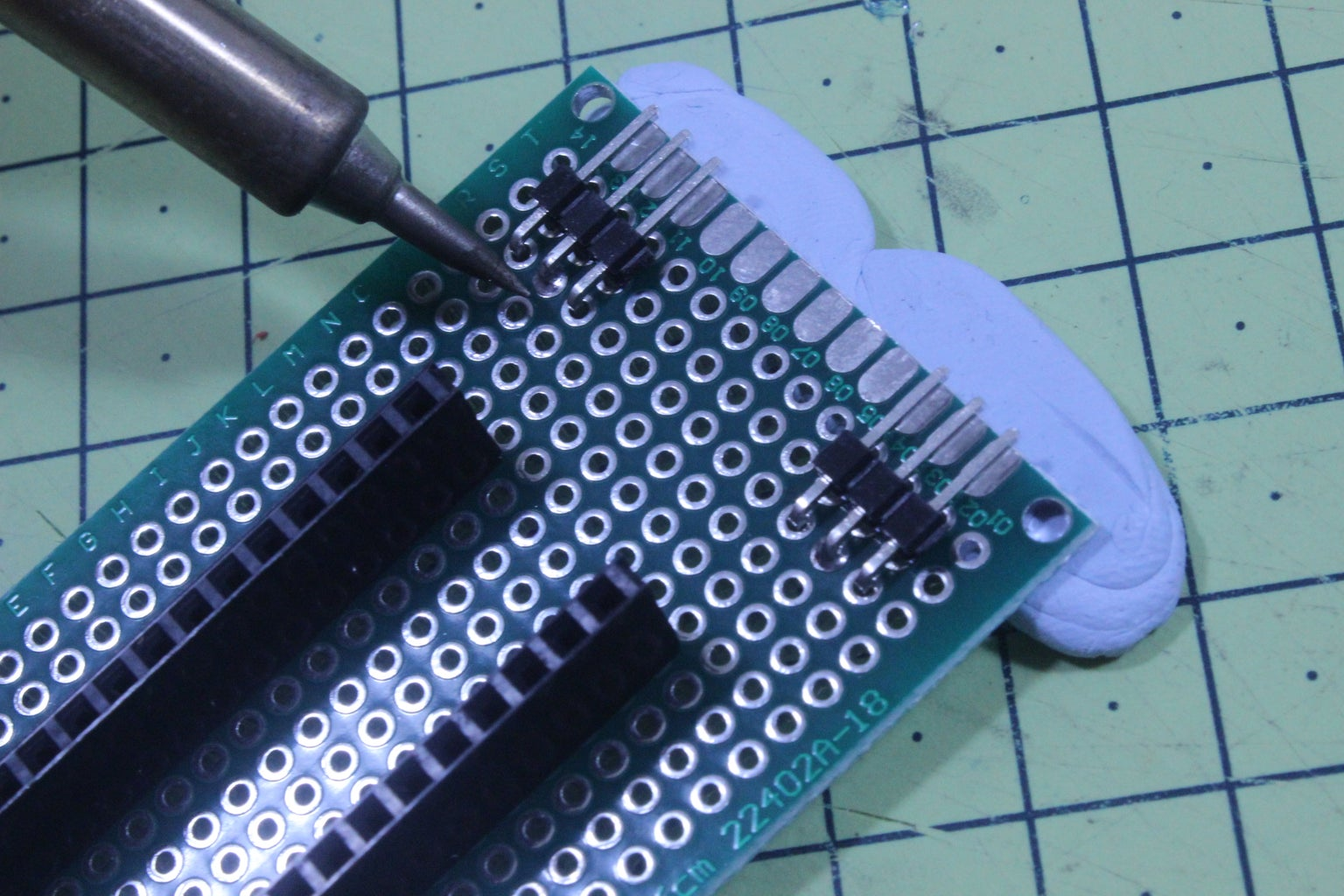 Solder the Servo Header Pins