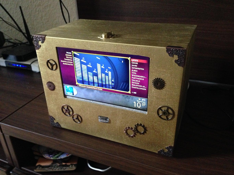 Raspbmc Mediabox Steampunk Style