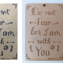 Making Wallhangers and Keychains With Calligraphic Art