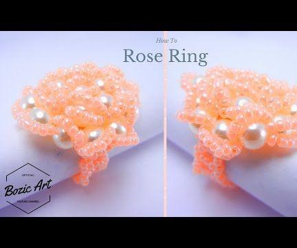 "How to make ""Rose"" Ring | Beading Tutorial"