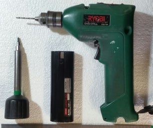 Repacking 7.2V NiCD Drill Battery With Lithium 18650