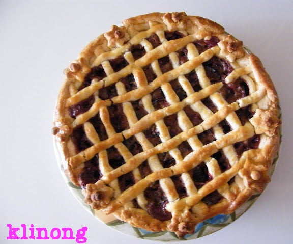 Lattice Plum Pie