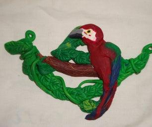 Parrot Sculpey Necklace