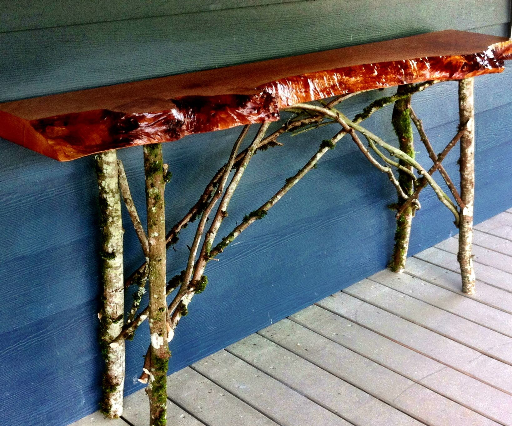 Sofa Table, reclaimed wood