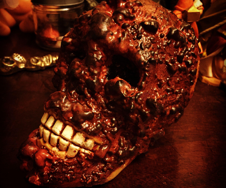 Dollar Store Skull Corpsing with Spray Foam No 1