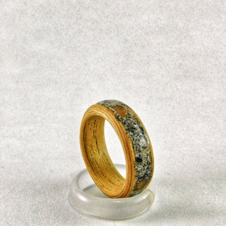 Bentwood Rings With Stone Inlay
