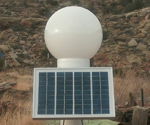 Make a Solar Powered Led Lamp Post Light