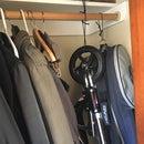 Organize items in your coat closet