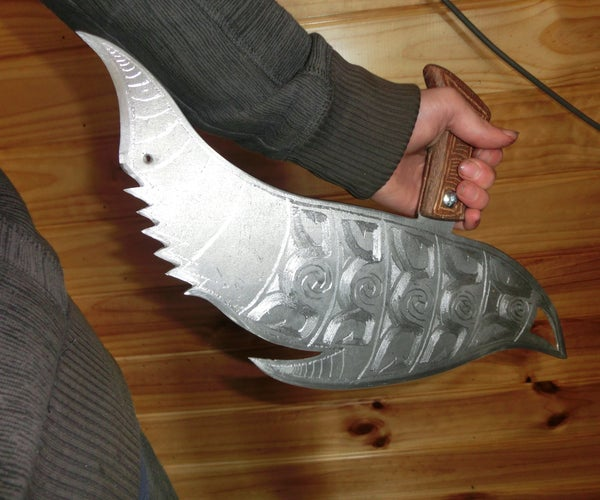 """Make a Huge, Epic Knife """"The Dolphin Blade"""" for Only $8 (Small Sword)"""
