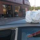 APRIL FOOLS DAY!  Shopping Bag on Top of Car