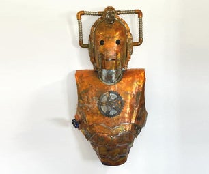 Make a Steampunk Cyberman Out of a Sheet of Copper