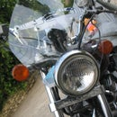 Easy motorcycle windshield