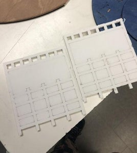 Laser Cut Sides and Post + Glue
