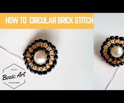 Circular Brick Stitch Around a Round Bead