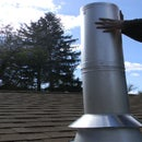 Chimney Pipe Installation for Wood Stove through a Flat Ceiling