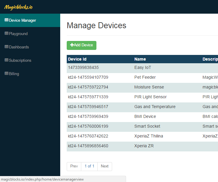 Lesson3 : Magicblocks - Device Manager