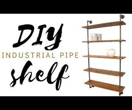 DIY Pipe Shelf