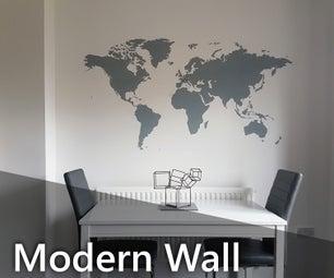 现代墙旅行地图
