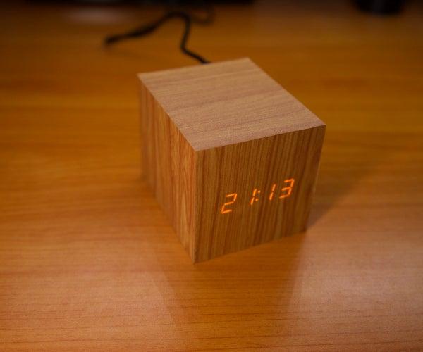 Wooden Digital Clock