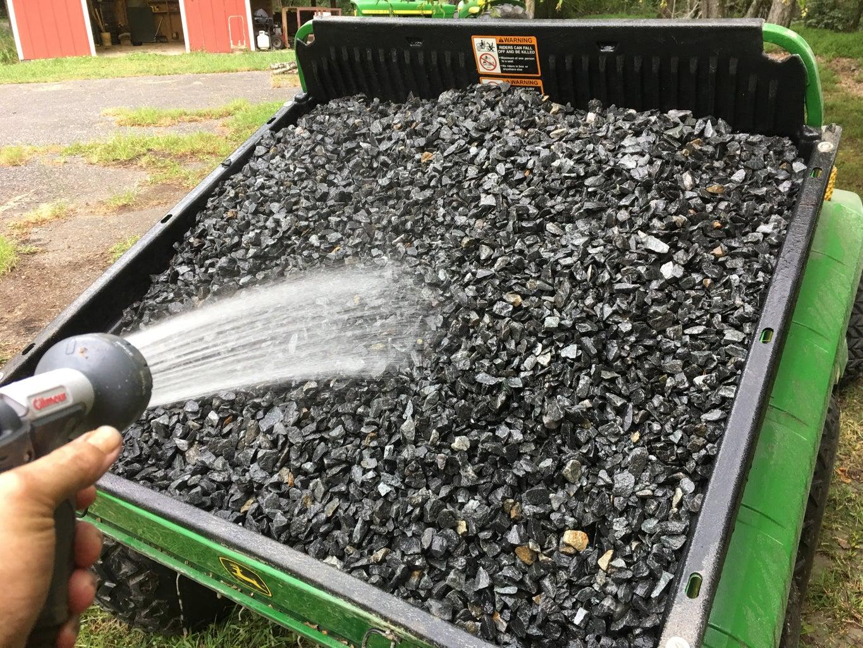 Adding Gravel and Plastic
