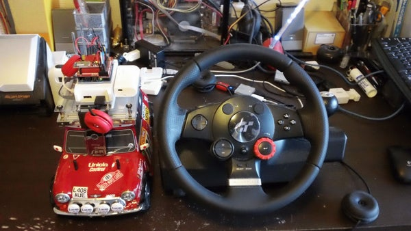 Car No.02 Steering Wheel Drive R/C Car With Arduino, Webcam and Net.USB Etc.