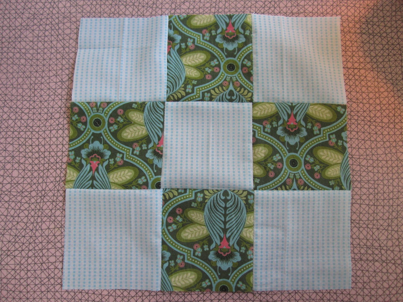 Anatomy of a 9 Square Quilt.