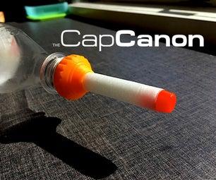 CapCanon: PET Bottle foamdart/water canon. NERF compatible! (3D Printed)