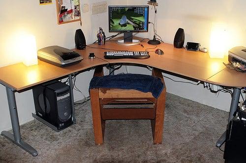Modified IKEA GALANT Desk