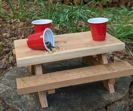 Squirrel Feeder From Scraps