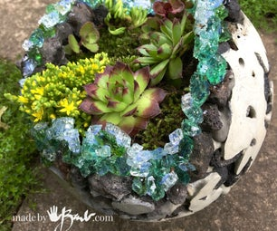 Giant Geode Orb Planter