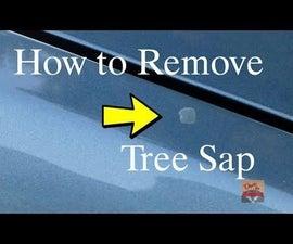 How to Remove Tree Sap