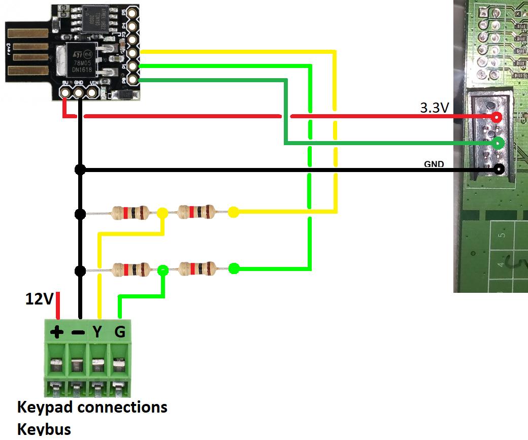 DSC Alarm Arduino Digispark ATTINY85 With WRT54G Router