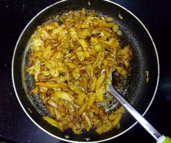 Potato and Cabbage Fry