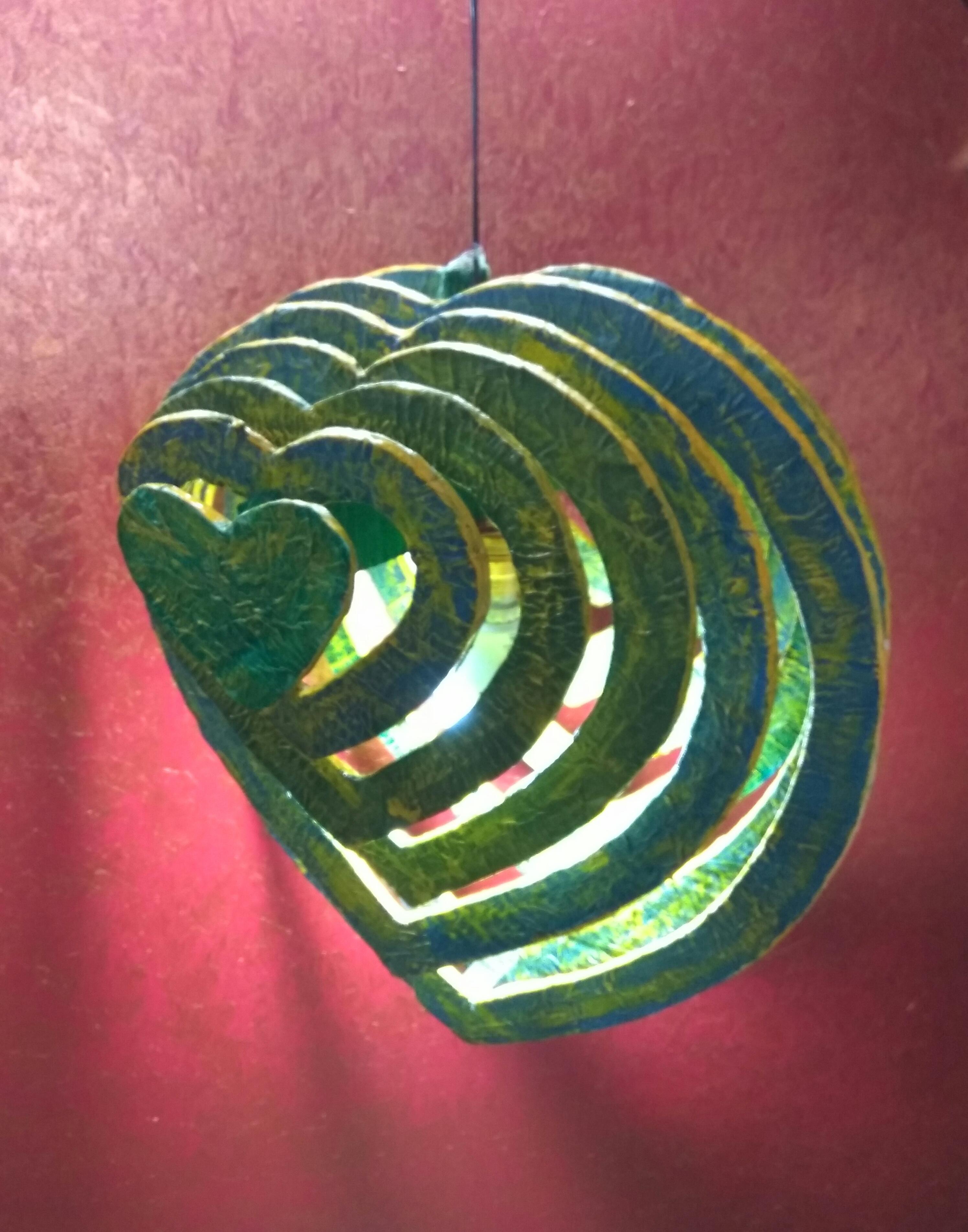 Pretty Cardboard Heart Shaped Hanging Lamp.